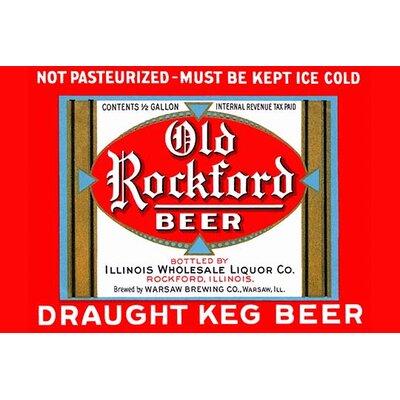 'Old Rockford Beer' Vintage Advertisement Size: 30