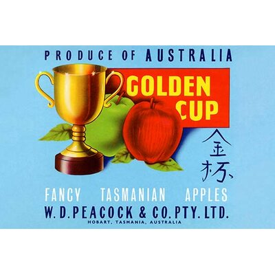 "'Golden Cup' Vintage Advertisement Size: 30"" H x 20"" W 0-587-22619-6"