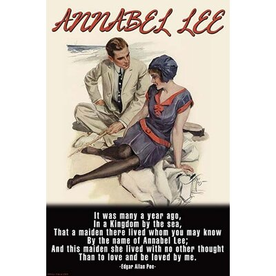 "'Annabel Lee' by Wilbur Pierce Vintage Advertisement Size: 30"" H x 20"" W 0-587-22279-4"
