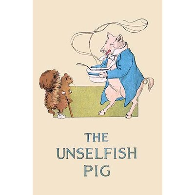 'The Unselfish Pig' by Frances Beem Graphic Art