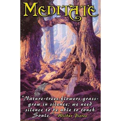 "'Meditate' by Wilbur Pierce Vintage Advertisement Size: 66"" H x 44"" W"