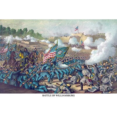 'Battle of Williamsburg or the Battle of Magruder' Graphic Art