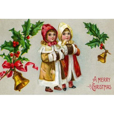 "'A Merry Christmas' Vintage Advertisement Size: 30"" H x 20"" W 0-587-22970-5"