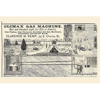 'Climax Gas Machine' Vintage Advertisement 0-587-22698-6