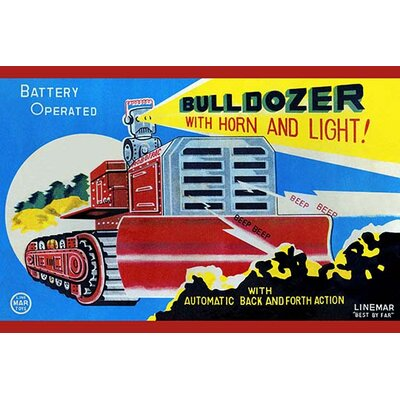 'Battery Operated Bulldozer with Horn and Light' Vintage Advertisement 0-587-24945-5C2842