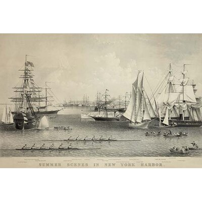 "'Summer Scenes in New York Harbor' Photographic Print Size: 30"" H x 20"" W 0-587-23825-9C2030"