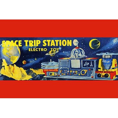 'Space Trip Station Electro Toy' Vintage Advertisement 0-587-24979-xC4466