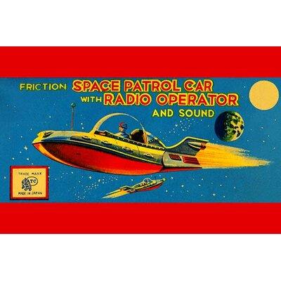 'Space Patrol Car with Radio Operator' Vintage Advertisement 0-587-24933-1