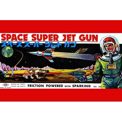 'Space Super Jet Gun' Vintage Advertisement 0-587-25087-9C2842