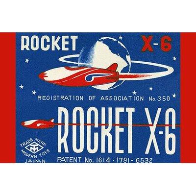 'Rocket X-6' Vintage Advertisement 0-587-25098-4C4466