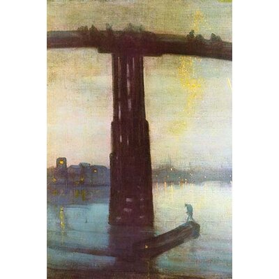 'Old Battersea Bridge' by James McNeill Whistler Painting Print 0-587-25246-4C4466
