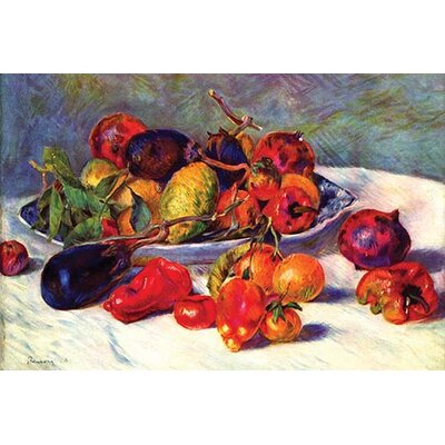 'Still Life with Tropical Fruits' by Pierre-August Renoir Painting Print