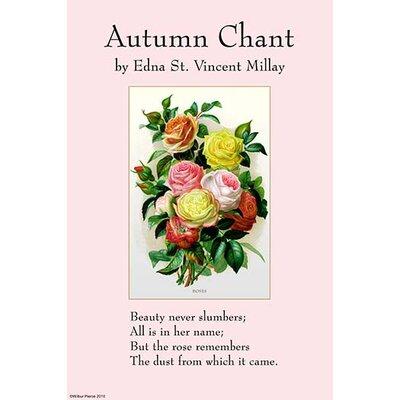 'Autumn Chant' by Edna St. Vincent Millay Wall Art