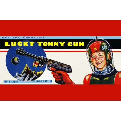 'Lucky Tommy Gun' Vintage Advertisement 0-587-25069-0C2030