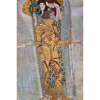 'The Beethoven Frieze 2' by Gustav Klimt Painting Print Size: 36