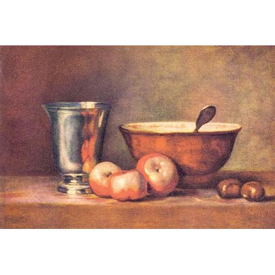 'The Silver Cup' by Jean Chardin Painting Print 0-587-26264-8
