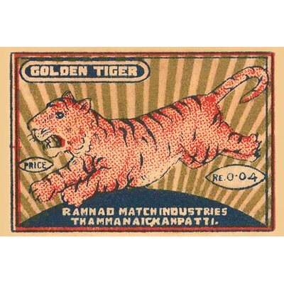 'Golden Tiger' Vintage Advertisement 0-587-26019-XC2842