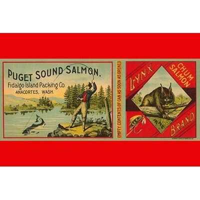 'Puget Sound Salmon Can Label' by Schmidt Litho Co. Vintage Advertisement