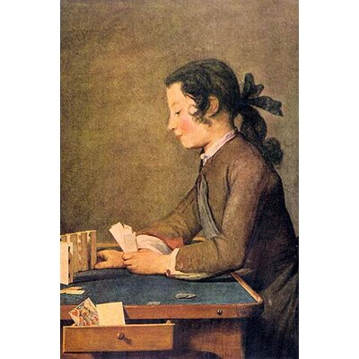 'House of Cards' by Jean Chardin Painting Print