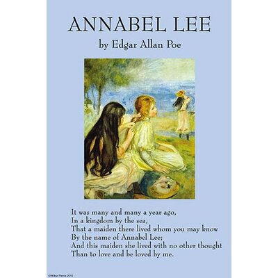 'Annabel Lee' by Edgar Allan Poe Vintage Advertisement 0-587-26953-7