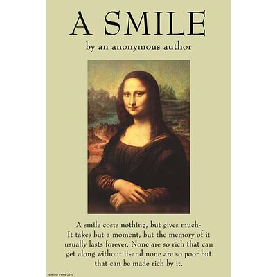 'A Smile' by Anonymous Vintage Advertisement 0-587-26987-1C4466