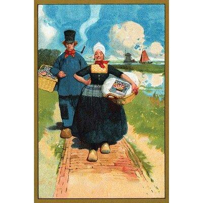'Sunlight Soap - Dutch Couple' Vintage Advertisement 0-587-26930-8C2842