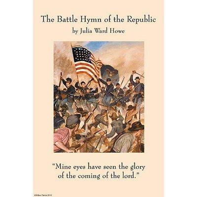 'Battle Hymn of the Republic' by Julia Ward Howe Vintage Advertisement Size: 36