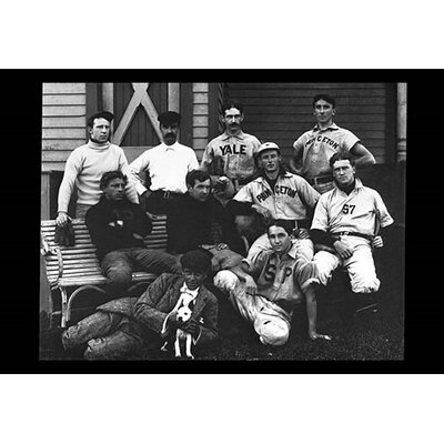 College Baseball Players with Terrier Photographic Print 0-587-04373-3