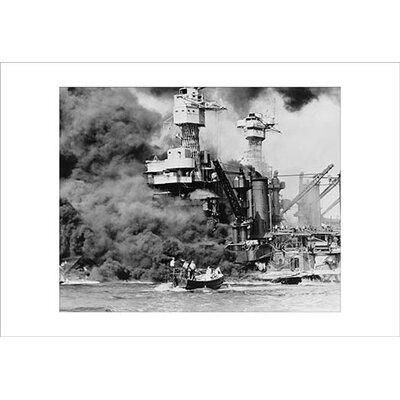 'Uss West Virginia Alight in Pearl Harbour' Photographic Print -  Buyenlarge, 0-587-19582-7