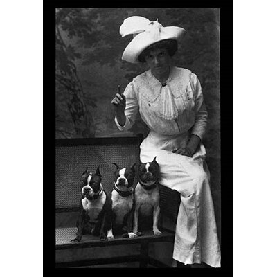 Mrs. Rhoades and Her Three Boston Terriers Photographic Print 0-587-04366-0
