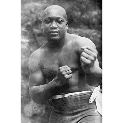 "'Jack Johnson Heavyweight Champion of The World' Photographic Print Size: 42"" H x 28"" W x 1.5"" D 0-587-46019-LC2842"