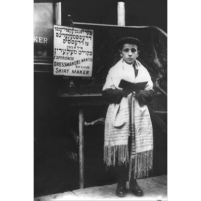 'Young Man in Tallit' by Bains News Service Photographic Print 0-587-19750-1
