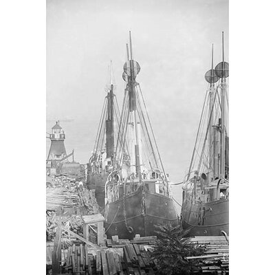 'Lightships Docked at Tomkinsville Staten Island New York' Photographic Print 0-587-45975-LC2842