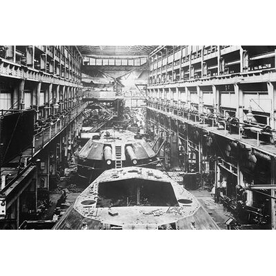'Battleship Turrets Produced at Armstrong Works in England' Photographic Print Size: 28