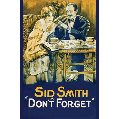 'Don'T Forget' Vintage Advertisement 0-587-62302-L