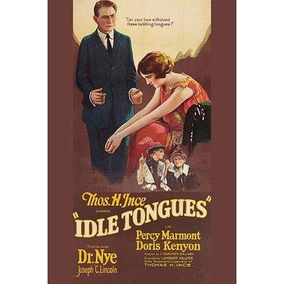 'Idle Tongues' Vintage Advertisement 0-587-62484-L