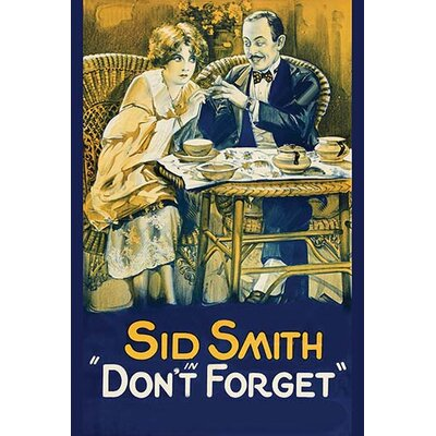 'Don'T Forget' Vintage Advertisement 0-587-62302-LC4466