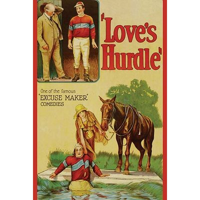 'Love's Hurdle' Vintage Advertisement 0-587-62467-L
