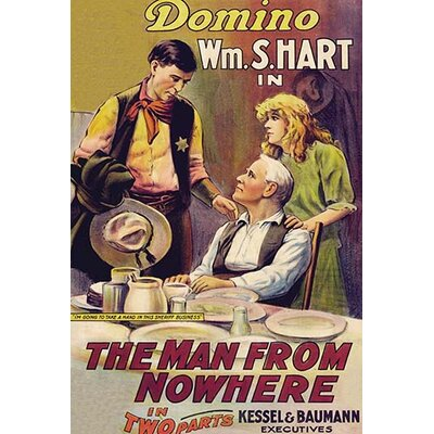 'The Man From Nowhere' Vintage Advertisement 0-587-62856-LC4466