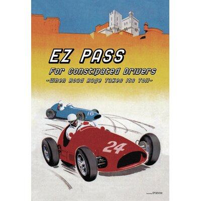 'E Z Pass for Constipated Drivers' by Wilbur Pierce Wall Art