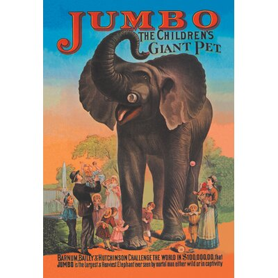 Jumbo - The Children's Giant Pet Vintage Advertisement on Wrapped Canvas 01297-8C2030