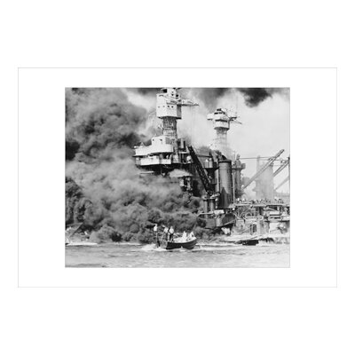 USS West Virginia Alight in Pearl Harbour Photographic Print on Wrapped Canvas -  Buyenlarge, 19582-7C2436