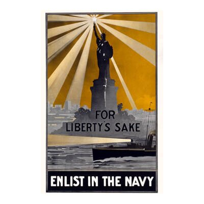 "Buyenlarge For Liberty's Sake, Enlist in The Navy Canvas Art - Size: 20"" H x 30"" W x 0.5"" D at Sears.com"