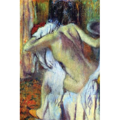 After Bathing by Edgar Degas Framed Painting Print on Wrapped Canvas Size: 20