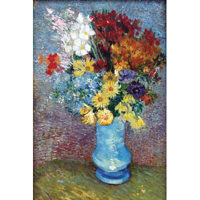 "Buyenlarge Flowers in a Blue Vase by Van Gogh Canvas Art - Size: 20"" H x 30"" W x 0.5"" D at Sears.com"