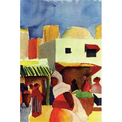 "Buyenlarge Market in Algiers Canvas Art - Size: 20"" H x 30"" W x 0.5"" D at Sears.com"