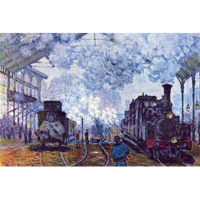 "Buyenlarge Saint Lazare Station in Paris, Arrival of a Train Canvas Art - Size: 20"" H x 30"" W x 0.5"" D at Sears.com"