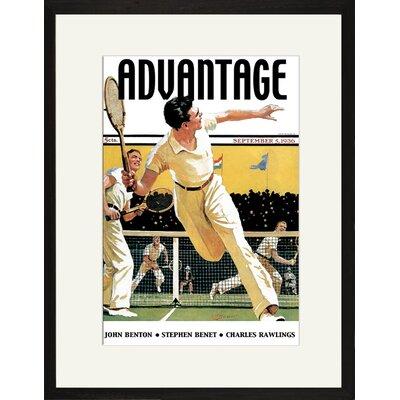 Men Play Tennis Framed Vintage Advertisement on Canvas 00849-01218BF