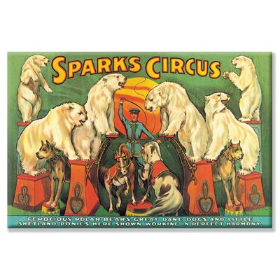 Sparks Circus Vintage Advertisement on Wrapped Canvas Size: 24