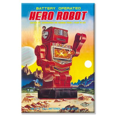 Battery Operated Hero Robot Vintage Advertisement on Wrapped Canvas 0-587-02072-5C2030